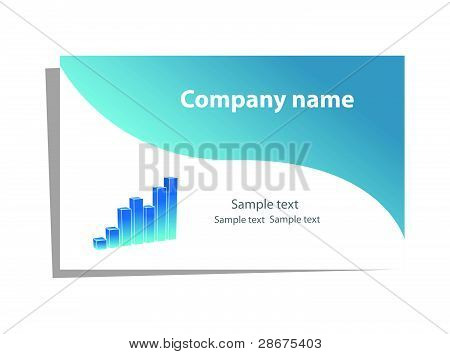 Visit card with chart