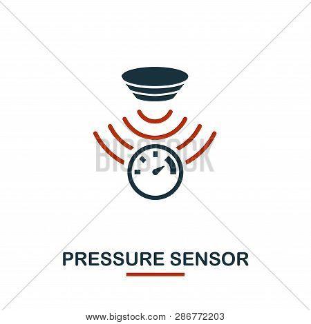 Pressure Sensor Icon From Sensors Icons Collection. Creative Two Colors Design Symbol Pressure Senso
