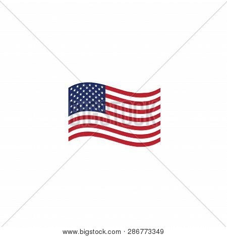 Voting 2020 Icon With Vote, Government, And Patriotic Symbolism And Colors
