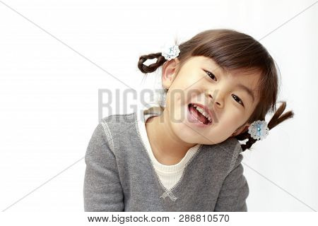 Smiling Japanese Girl (4 Years Old) (white Back)