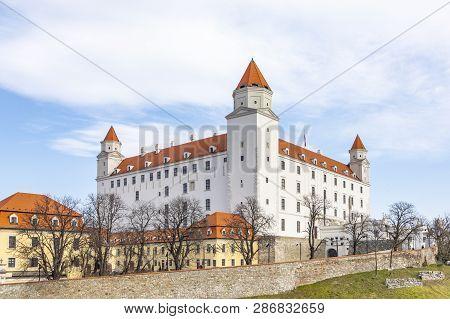 Bratislava Castle Or Bratislavsky Hrad Is The Main Castle Of Bratislava, Capital Of Slovakia