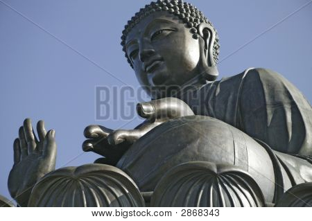 The Giant Statue Of Buddha In Hong Kong