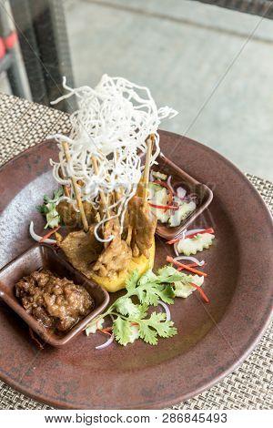 Chicken Sate Skewers, Thai groumet cuisine