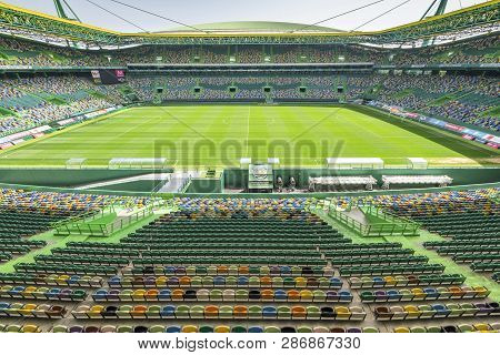Lisboa, Portugal - April 2018: View On Jose Alvalado Stadium - Fc Sporting Arena
