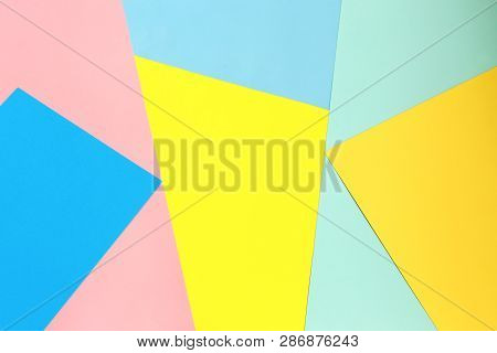 Multicolor Background From A Paper Of Different Colors. Abstract Color Paper And Creative Colorful P