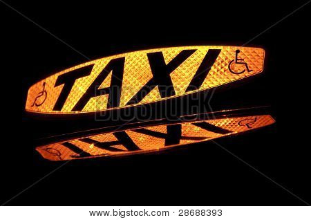 Illuminated Taxi Sign