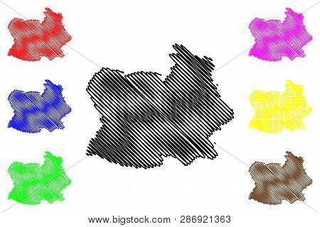 Chai Nat Province (kingdom Of Thailand, Siam, Provinces Of Thailand) Map Vector Illustration, Scribb