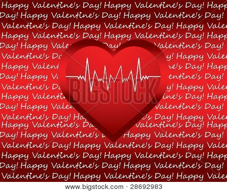 Special Valentine's Day Background With Heart