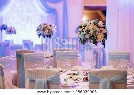 Banquet Hall For Weddings With Decorative Elements