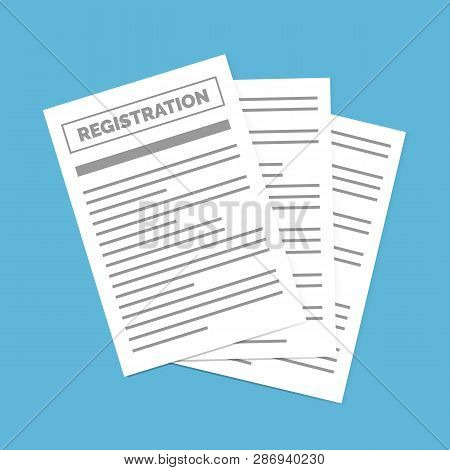 Contract Creation, Document Formation, Obligation Concept. Registration Document Isolated. Contract