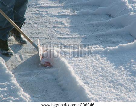 Winter  Shoveling Snow