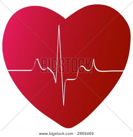 Heart With Heart Rhythm