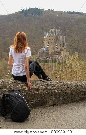 Burg Eltz Castle In Rhineland-palatinate State, Germany.