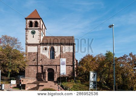 Schloßkirche St. Michael Pforzheim Baden-württemberg Germany At Blue Sky
