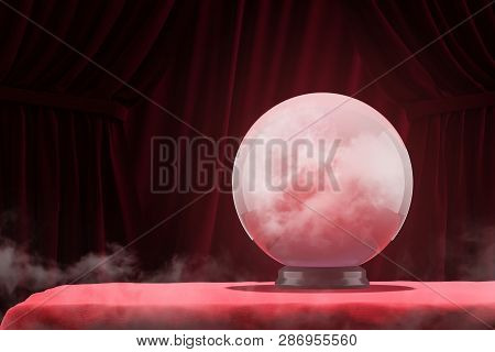 Magic Ball On Red Table