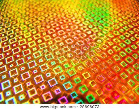 Acid yellow holographic background