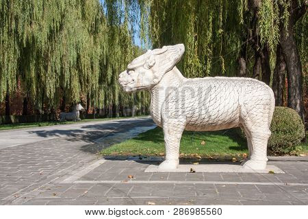 Fable Figure On The Ancient Ming Dynesty Tomb Alley (established In 14th Century) In Beijing