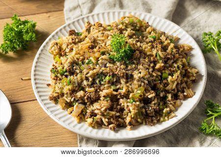 Cooked Cajun Dirty Rice