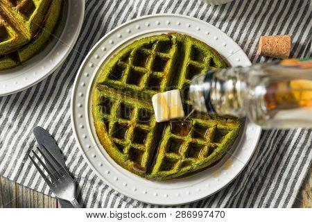 Homemade Green Tea Matcha Waffles