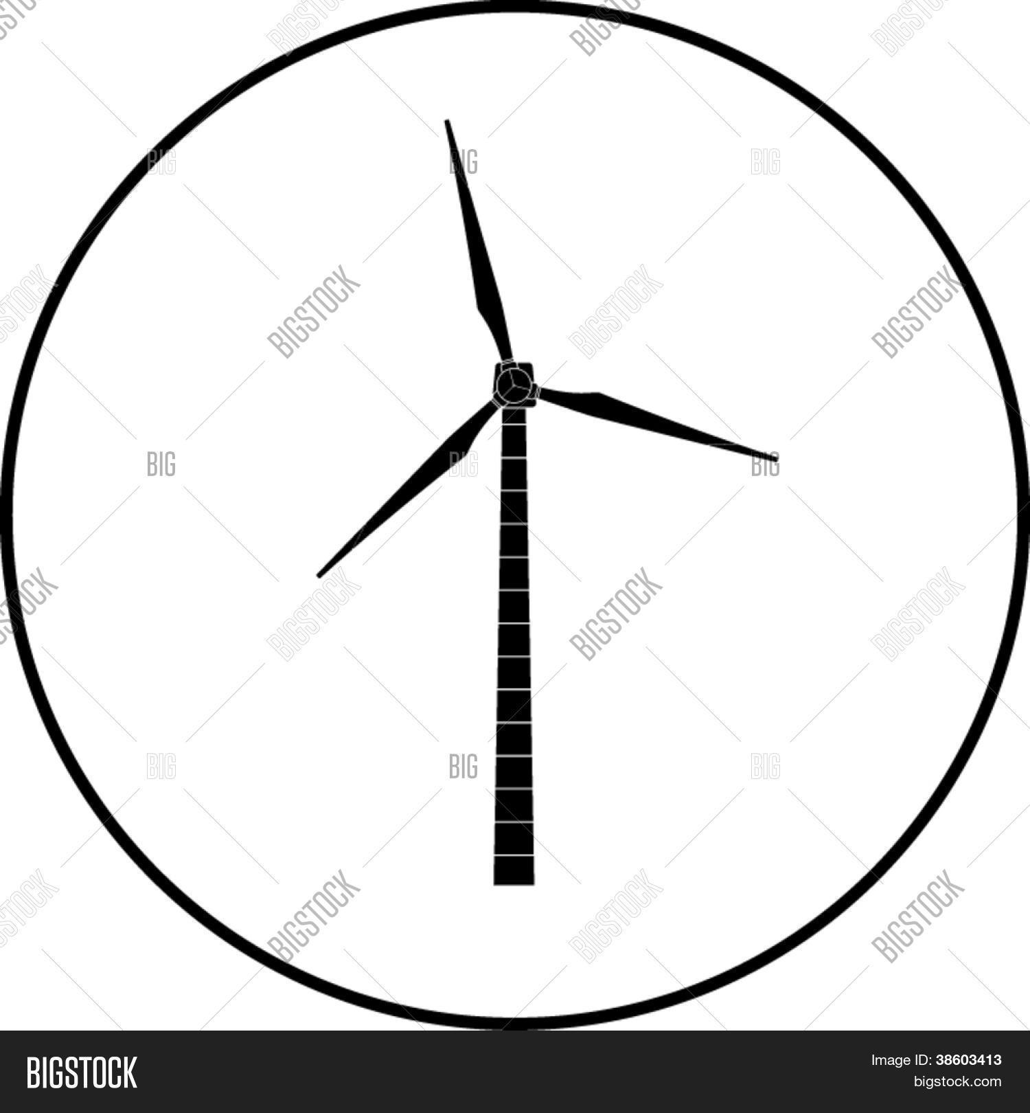 Wind Turbine Symbol Vector Photo Free Trial Bigstock