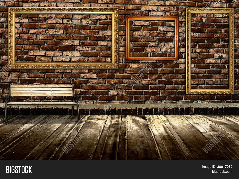 Interior Brick Flooring Pricing : Room interior vintage brick wall image photo bigstock