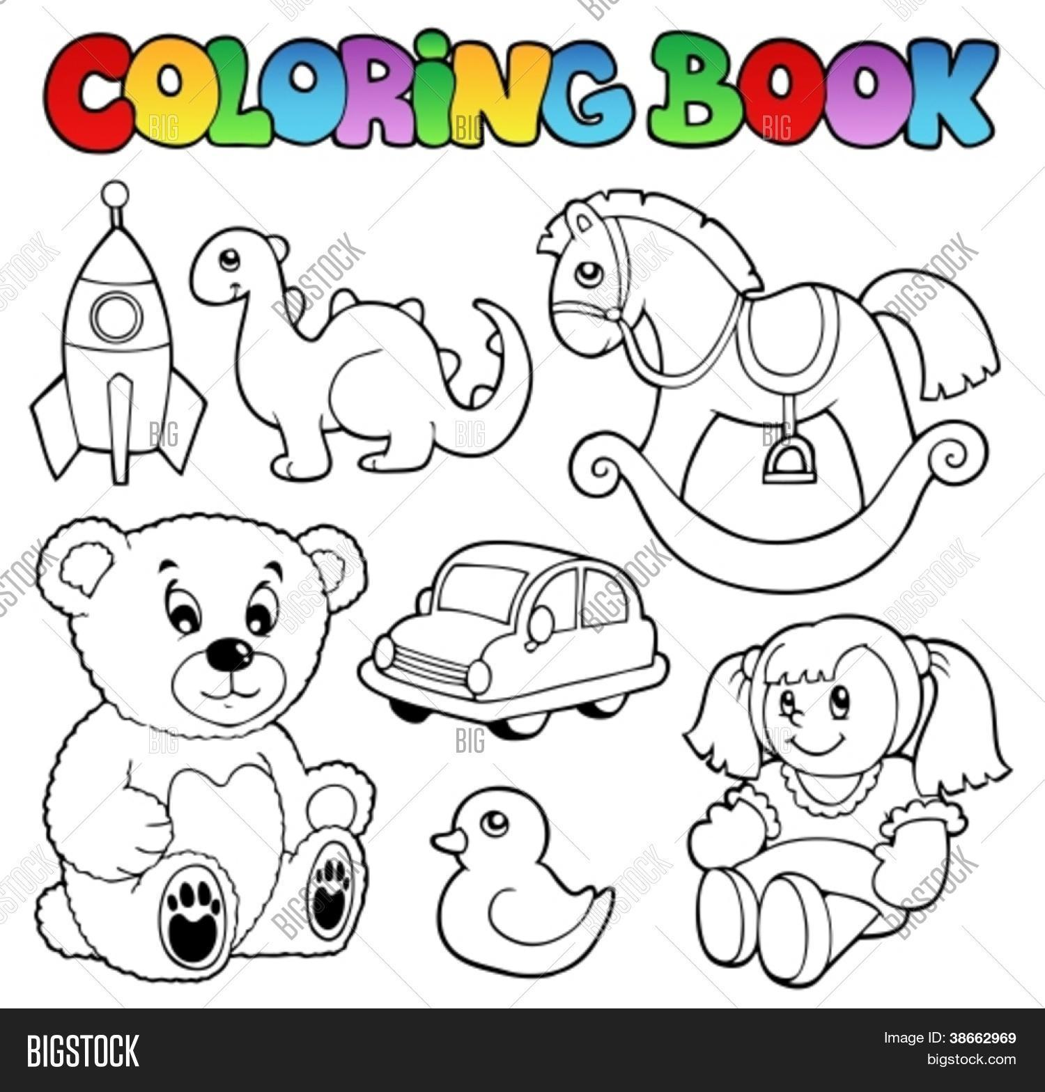 Coloring Book Toys Theme 1 - Vector & Photo | Bigstock