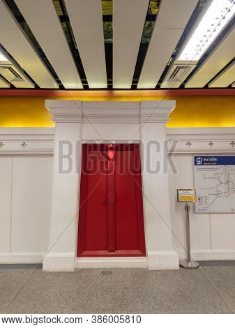 Bangkok  Thailand-17 September 2020:sanam Chai Mrt Station Is A Subway Station On The Mrt Sai Chaloe