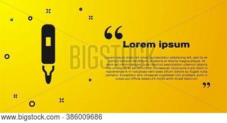 Black Marker Pen Icon Isolated On Yellow Background. Felt-tip Pen. Vector