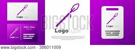 Logotype Medieval Spear Icon Isolated On White Background. Medieval Weapon. Logo Design Template Ele