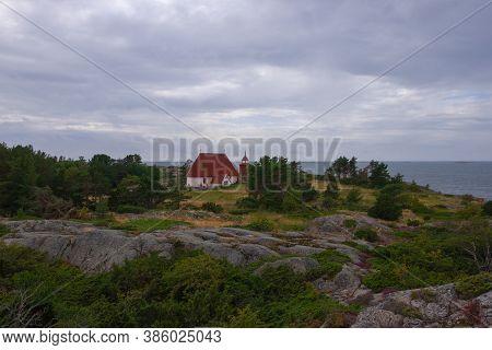 Finland, Aland Islands, Kokar, August 2019: The Largest And Oldest Cemetery On The Island Of Kokar A
