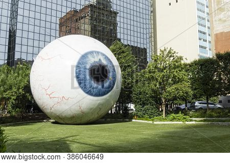 Dallas, Tx - November 3: Giant Eyeball In Downtown Dallas On November 3, 2018