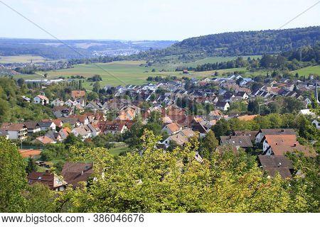 View Of The City Of Muenklingen Near Weil Der Stadt