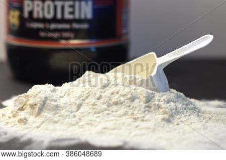 Scoop Of Whey Protein, Sports Nutrition, Supplement