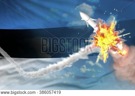Estonia Intercepted Supersonic Warhead, Modern Antirocket Destroys Enemy Missile Concept, Military I