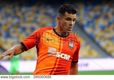 Kyiv, Ukraine - August 5, 2020: Junior Moraes Of Shakhtar Donetsk In Action During The Uefa Europa L