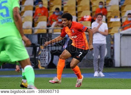 Kyiv, Ukraine - August 5, 2020: Taison Of Shakhtar Donetsk In Action During The Uefa Europa League G
