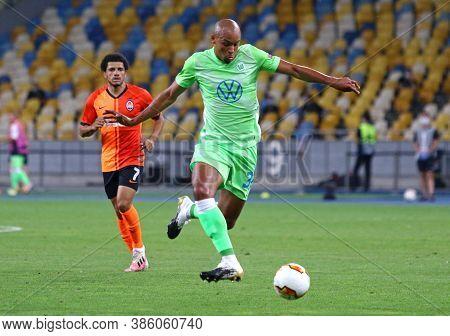 Kyiv, Ukraine - August 5, 2020: Marcel Tisserand Of Vfl Wolfsburg In Action During The Uefa Europa L