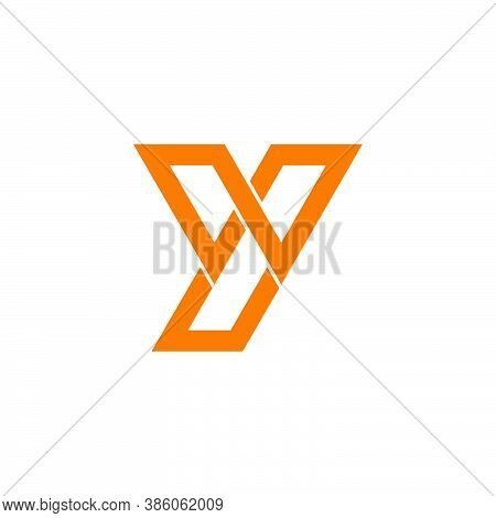 Letter Wy Simple Geometric Line Linked Logo Vector Unique Unusual Design Flat Product Brand Identity