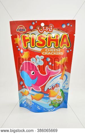 Manila, Ph - Sept 10 - Uni Fisha Cheese Cracker On September 10, 2020 In Manila, Philippines.
