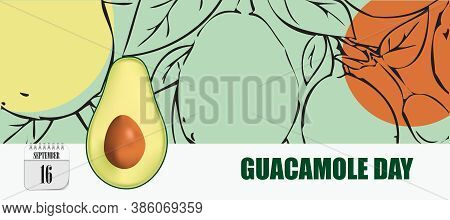 Post Card For Event September Day Guacamole Day
