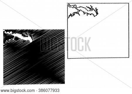 Appanoose County, Iowa (u.s. County, United States Of America, Usa, U.s., Us) Map Vector Illustratio