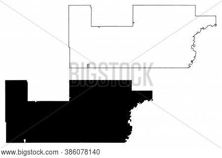 Sibley County, Minnesota (u.s. County, United States Of America, Usa, U.s., Us) Map Vector Illustrat