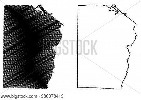 Maracaibo City (bolivarian Republic Of Venezuela, Zulia State) Map Vector Illustration, Scribble Ske