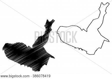 Maracay City (bolivarian Republic Of Venezuela, Aragua State) Map Vector Illustration, Scribble Sket