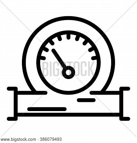 Manometer Gauge Icon. Outline Manometer Gauge Vector Icon For Web Design Isolated On White Backgroun