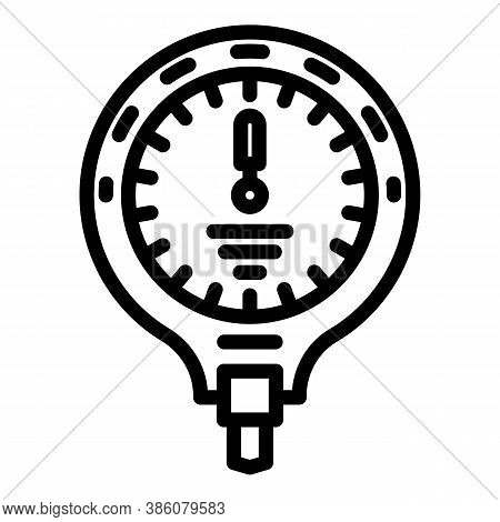 Manometer Sensor Icon. Outline Manometer Sensor Vector Icon For Web Design Isolated On White Backgro