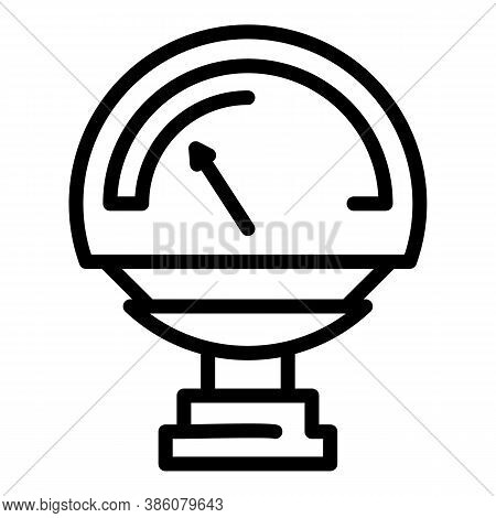 Manometer Valve Icon. Outline Manometer Valve Vector Icon For Web Design Isolated On White Backgroun