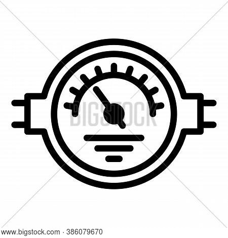Manometer Control Icon. Outline Manometer Control Vector Icon For Web Design Isolated On White Backg