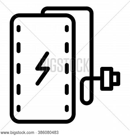 External Power Bank Icon. Outline External Power Bank Vector Icon For Web Design Isolated On White B