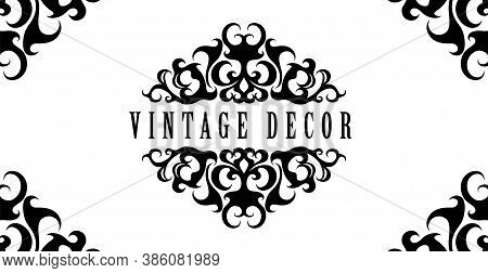 Vintage Decorative Background. Calligraphic Frame. Decorative Vintage Template With Place For Text.r
